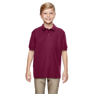 Dryblend Boys' Maroon Double Pique Polo Shirt