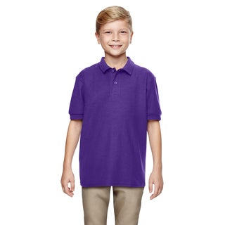 Gildan Boys' Purple DryBlend Double-pique Polo Shirt