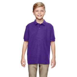 Gildan Boys' Purple DryBlend Double-pique Polo Shirt