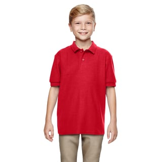 Gildan Boys' Red Dryblend Double Pique Polo Shirt