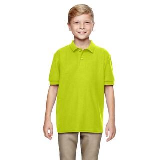 Dryblend Boys' Double Pique Safety Green Polo Shirt