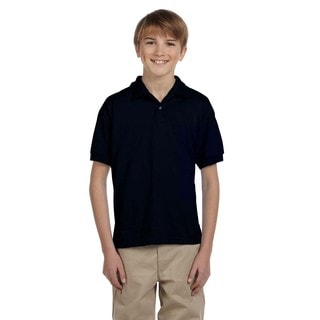 Dryblend Boys' Black Jersey Polo Shirt