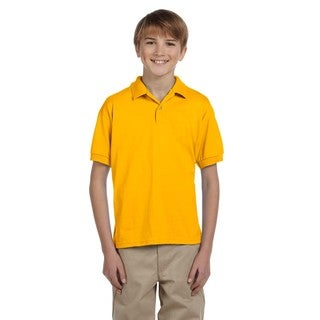 Dryblend Boys' Gold Polyester/Cotton Jersey Polo Shirt