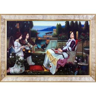 John William Waterhouse 'Saint Cecilia, 1895' Hand Painted Framed Canvas Art