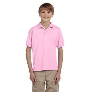 Gildan Boys' Light Pink Dryblend Jersey Polo Shirt