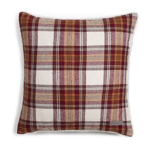 Eddie Bauer Edgewood Red Plaid Sherpa Pillow