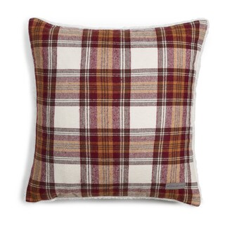 Eddie Bauer Edgewood Red Plaid Sherpa Pillow