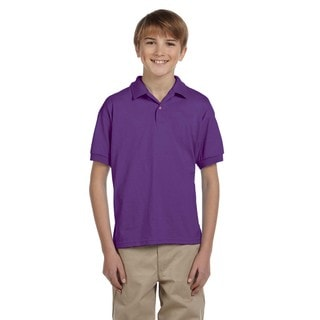 Dryblend Boys' Purple Jersey Polo Shirt