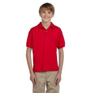 Dryblend Boys' Red Jersey Polo Shirt|https://ak1.ostkcdn.com/images/products/12308319/P19143044.jpg?impolicy=medium