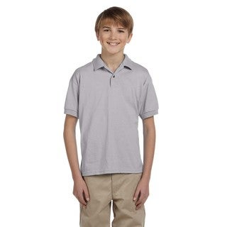 Dryblend Boys' Grey Jersey Polo Sport Shirt