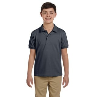 Gildan Charcoal Dryblend Boys' Pique Polo Shirt