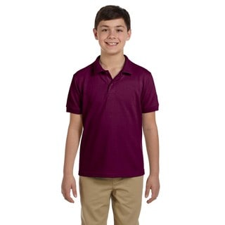 Dryblend Boys' Pique Maroon Cotton-blended Polo Shirt