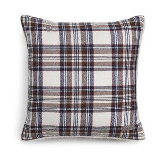 Eddie Bauer Edgewood Plaid Khaki Sherpa Decorative Pillow