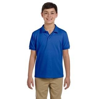 Gildan Boys' Royal Dryblend Pique Polo Shirt