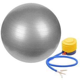 Sivan Health & Fitness Yoga Ball With Pump (Grey)