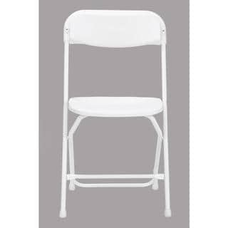 Link to COSCO Commercial 8-pack Heavy Duty, Injection Mold White Folding Chair with Comfortable Contoured Back Similar Items in Home Office Furniture