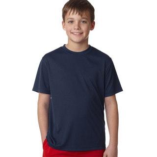 Hanes Navy Cool Dri Youth T-shirt