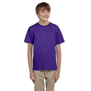 Comfortblend Boys' Ecosmart Purple Polyester Crewneck T-shirt