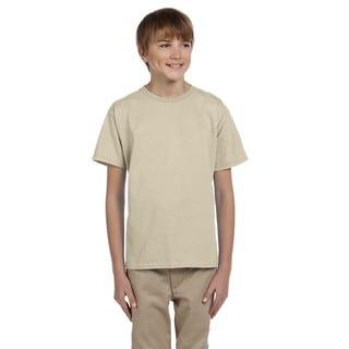 Hanes Boys' Sand Comfortblend EcoSmart Crewneck T-shirt
