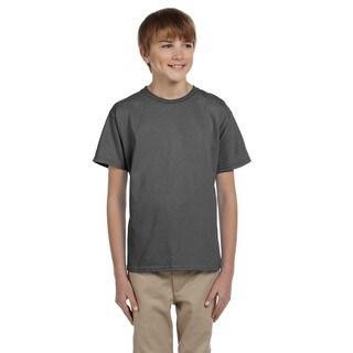 Hanes Boys' Smoke Gray Comfortblend EcoSmart Crewneck T-shirt