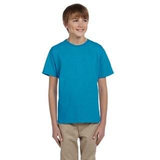 Comfortblend Boys' Teal Ecosmart Crewneck T-shirt