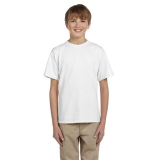 Comfortblend Boys' White Cotton-blend Ecosmart Crewneck T-Shirt