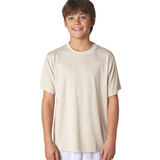 Cool & Dry Sport Boys Beige Interlock Performance T-shirt