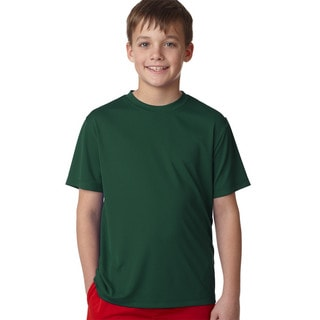 Hanes Cool Dri Youth Boys' Deep Forest Polyester T-Shirt