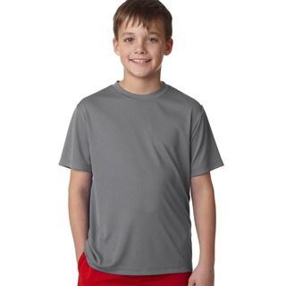 Hanes Cool Dri Boys' Graphite Cotton T-shirt