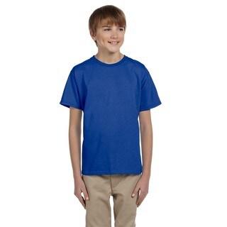 Comfortblend Boys' Ecosmart Deep Royal Polyester Crewneck T-shirt