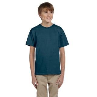 Hanes Denim Blue Comfortblend Boys' EcoSmart Crewneck T-Shirt