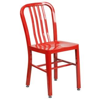 Porch & Den Stonehurst Stoneford Metal Indoor/ Outdoor Chair (Option: Red)