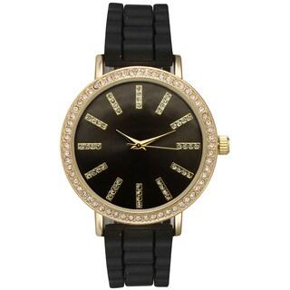 Olivia Pratt Women's Stainless-steel Rhinestone-accented Fashion Watch