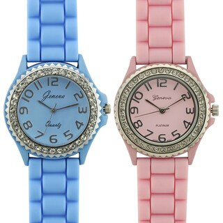 Geneva Platinum Summer Shine Ladies 2 Watch Bundle