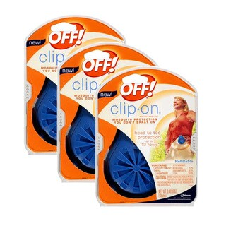 Off! Blue Clip-on Mosquito Repellent Fan (Pack of 3)