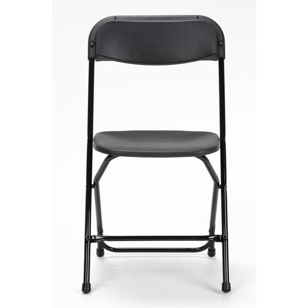 COSCO Commercial 8-pack Heavy Duty Black Folding Chair with Contoured Back
