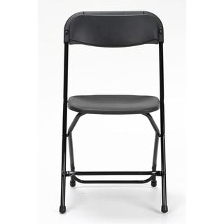 COSCO Commercial 8-pack Heavy Duty, Injection Mold Black Folding Chair with Comfortable Contoured Back