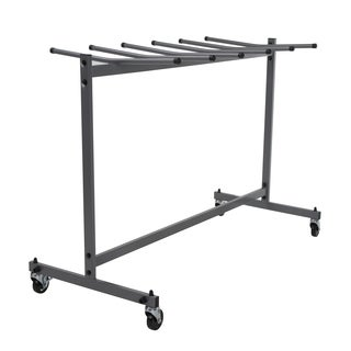 COSCO Commercial Heavy Duty Grey Folding Chair Trolley Cart with Locking Wheels