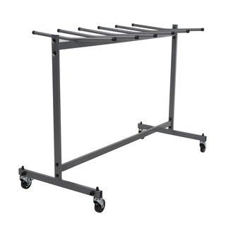COSCO Commercial Heavy Duty Grey Folding Chair Trolley Cart with Locking Wheels