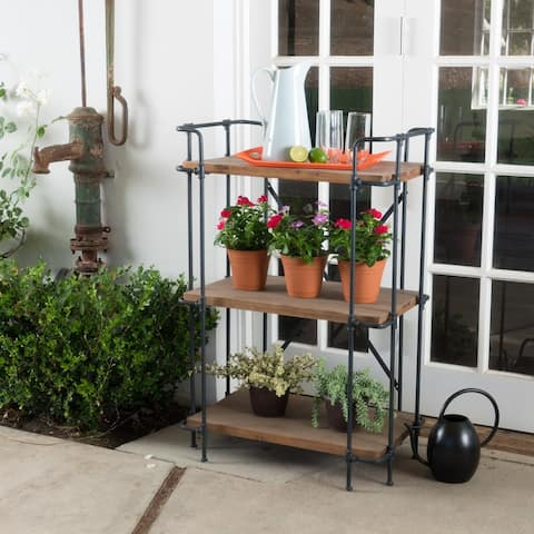Cedarburg Outdoor Industrial 3 Shelf Firwood Bookcase by Christopher Knight Home - 27.25 W x 17.00 D x 40.75 H
