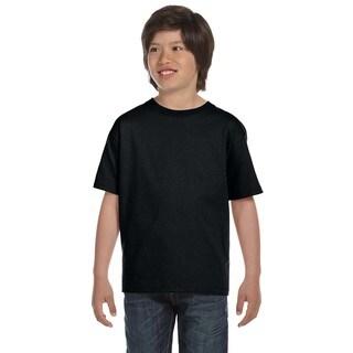 Hanes Boys' Beefy-T Black T-Shirt