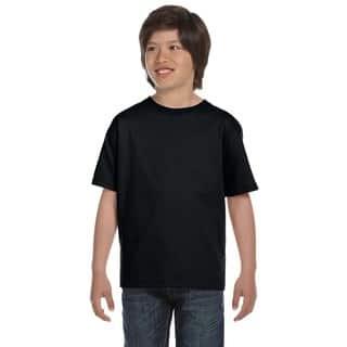 Hanes Boys' Beefy-T Black T-Shirt|https://ak1.ostkcdn.com/images/products/12308824/P19143448.jpg?impolicy=medium
