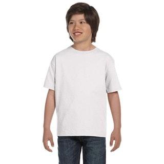 Lofteez Boys' White Heather 100 Percent Cotton T-shirt