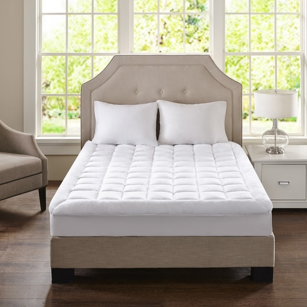 Madison Park Heavenly Soft Overfilled Plush Hypoallergenic Down Alternative Waterproof Mattress Pad - White. Opens flyout.