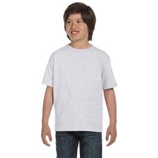 Hanes Boys' Beefy-T Ash Cotton T-shirt