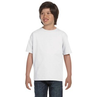 Hanes Boys' Beefy-T White Cotton T-shirt