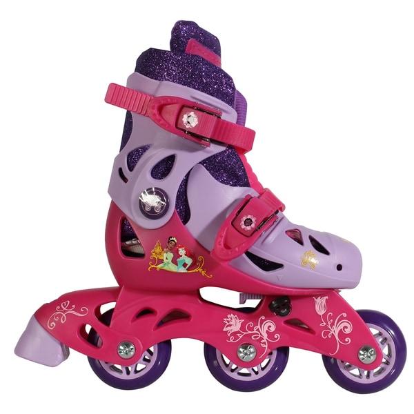 Playwheels Princess Pink Stainless Steel Junior Size 6-9 Convertible 2-in-1 Kids Skates