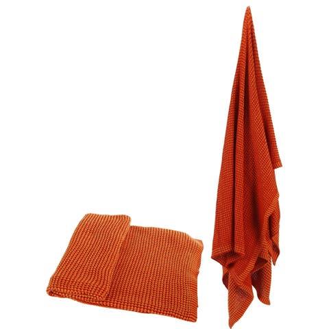 100-percent Cotton Orange Throw