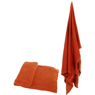 100-percent Cotton Orange Throw