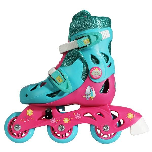 Playwheels Trolls Junior Size 6-9 Convertible 2-in-1 Kids Skates